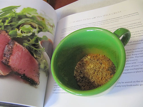 Seared Tuna with Tea Spice Crust