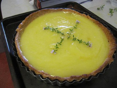 Lemon Curd and Olive Oil Tart