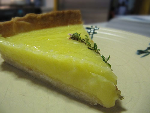 Lemon Curd and Olive Oil Tart
