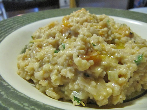... risotto with sage roasted chicken butternut squash with shallots and