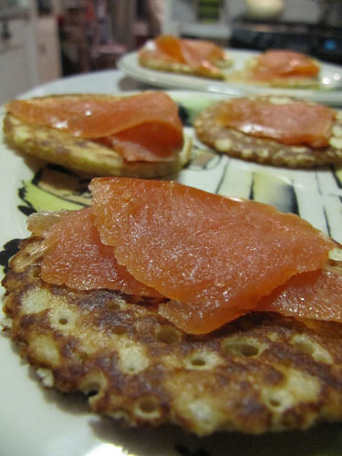 Buckwheat Blini with Smoked Salmon