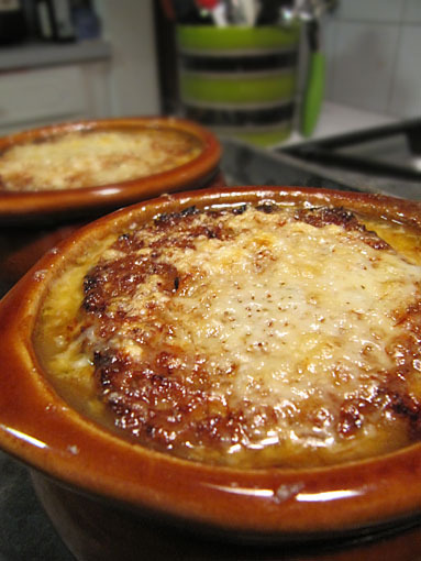 cheese-topped onion soup