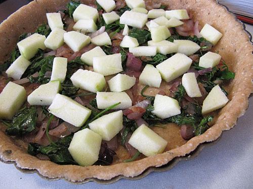 Apple Feta Quiche