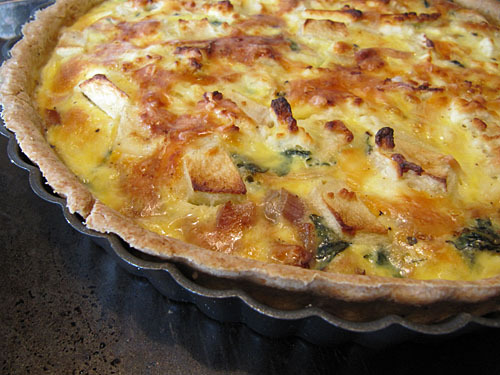 Apple Feta Quiche