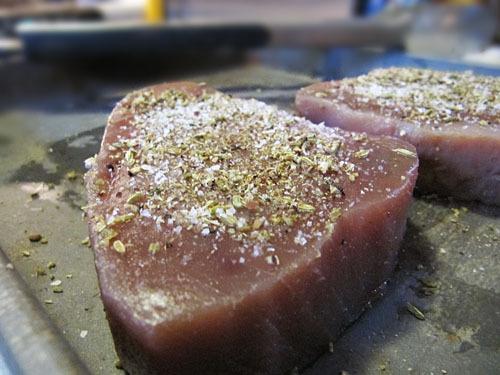 Fennel-crusted tuna