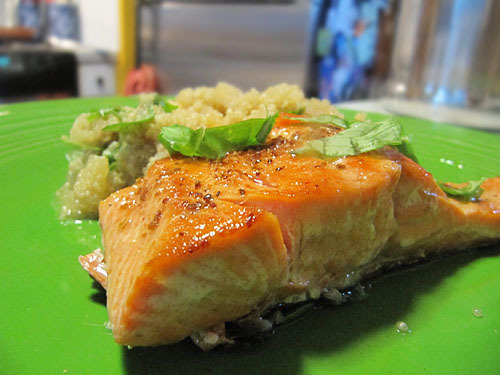 Pan-Roasted Salmon with Grapefruit Quinoa Salad