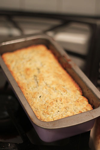 Loaf of Lemon Chia Seed Zucchini Bread
