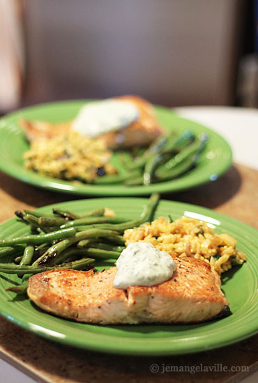 Coho Salmon with Basil Cream