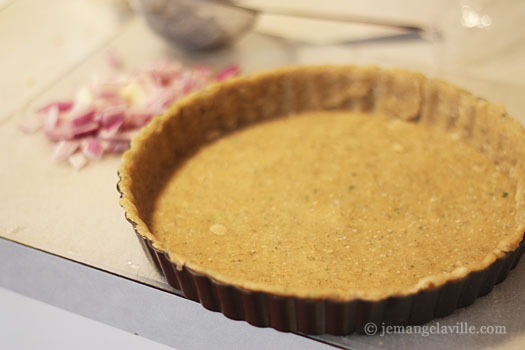 Whole Wheat Olive Oil Crust for Smoked Salmon Quiche