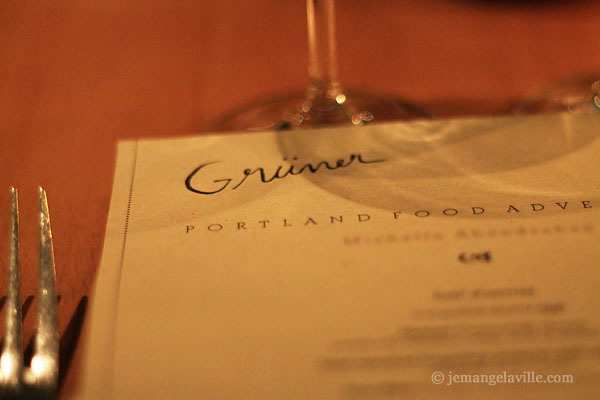 Portland Food Adventures: Grüner, Dec 2012
