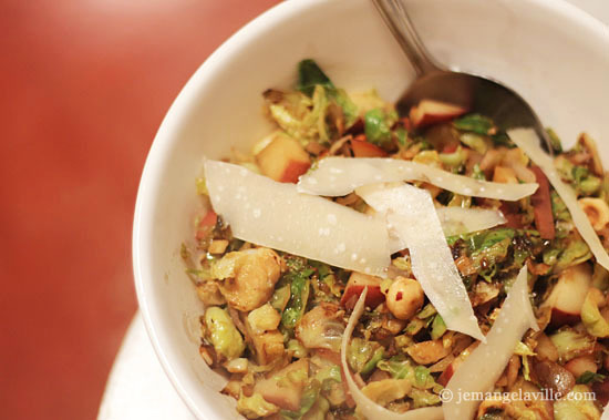 Brussels Sprouts with Pear and Hazelnuts