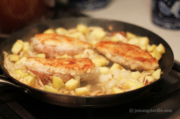 Chicken, Apples and Cream a la Normande