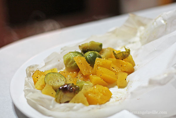 FFwD: Brown Sugar Squash and Brussels Sprouts en Papillote