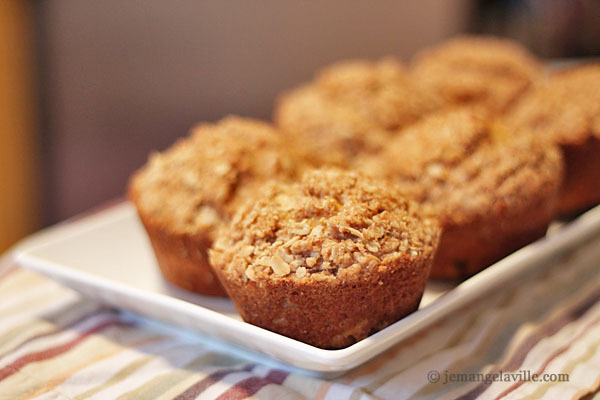 Butternut Squash Muffins with Oat Streusel Topping