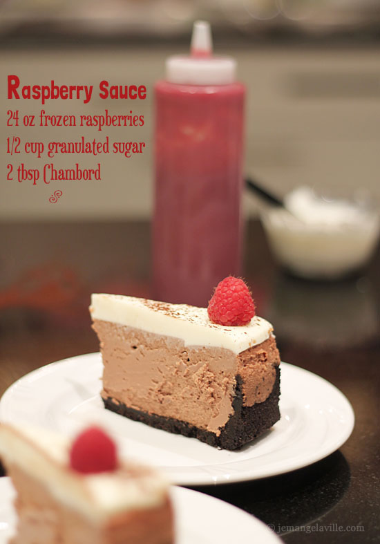 Valentine's Day Dessert: Sour Cream Raspberry Chambord Cheesecake