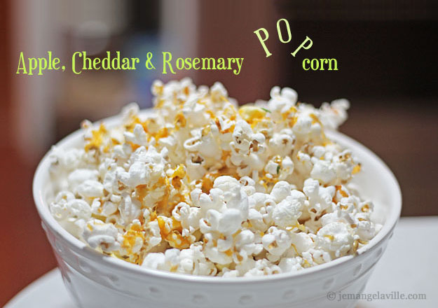 Apple, Cheddar & Rosemary Popcorn