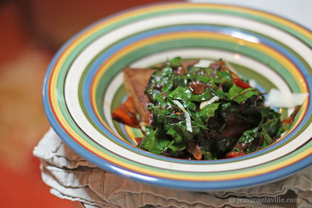 Teff Polenta with Sauteed Chard