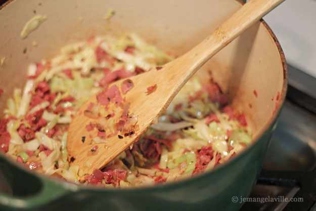 Corned Beef and Cabbage Risotto for St. Patrick's Day