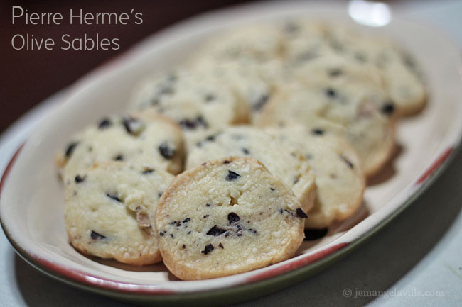 Pierre Herme's Olive Sables