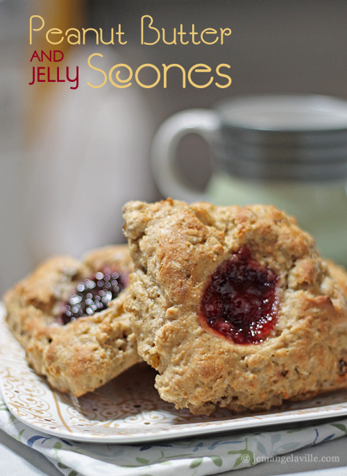 Peanut Butter and Jelly Scones