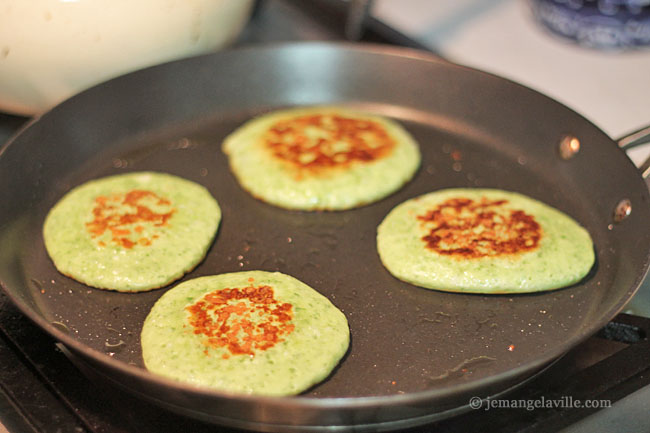 FFwD: Swiss Chard Pancakes but really Arugula Pancakes