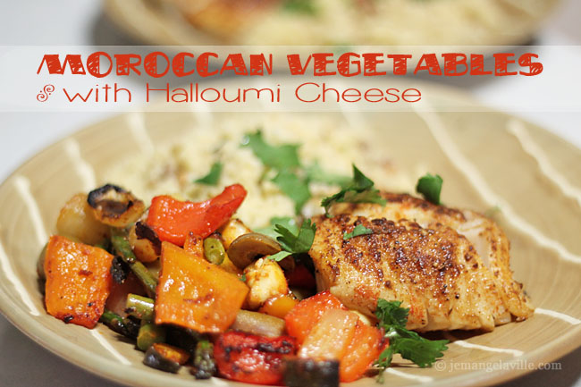 Moroccan Vegetables with Halloumi Cheese
