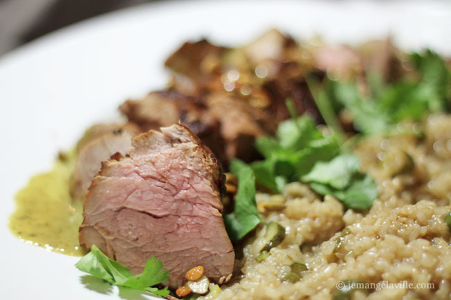 Grilled and Marinated Green Curry Pork Tenderloin