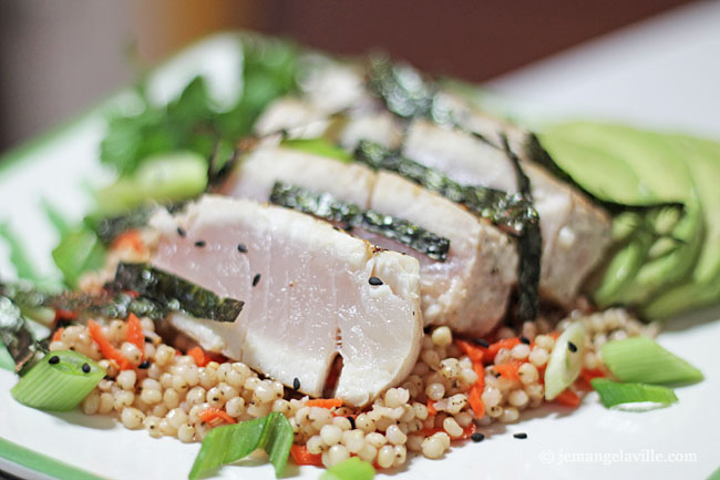Sorghum Sushi Salad with Seared Tuna and Avocado