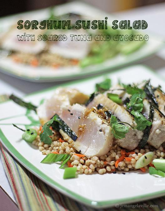 Sorghum Sushi Salad with Seared Tuna and Avocado