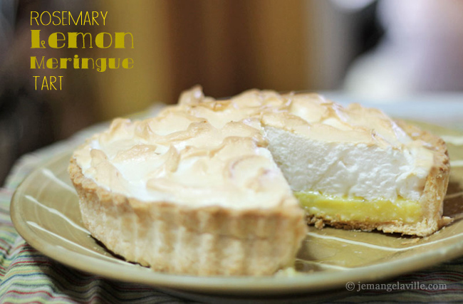 Rosemary Lemon Meringue Tart
