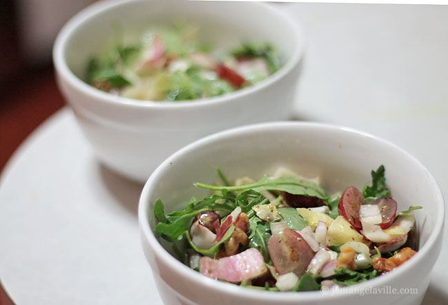 Endive and Arugula Salad with Walnuts and Grapes; IFBC 2013