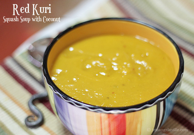Roasted Red Kuri Squash Soup with Coconut