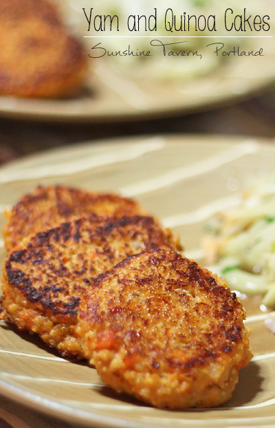 Yam and Quinoa Cakes from Portland's Sunshine Tavern
