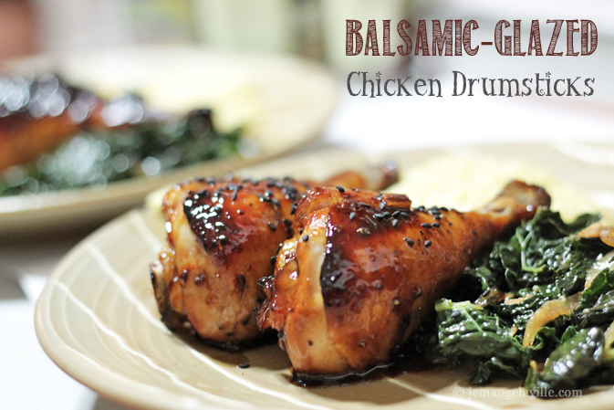 Balsamic-Glazed Chicken Drumsticks