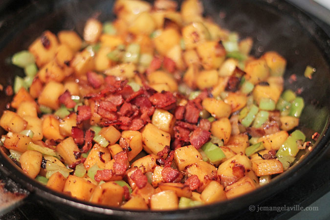 Rutabaga Hash with Onions and Crisp Bacon