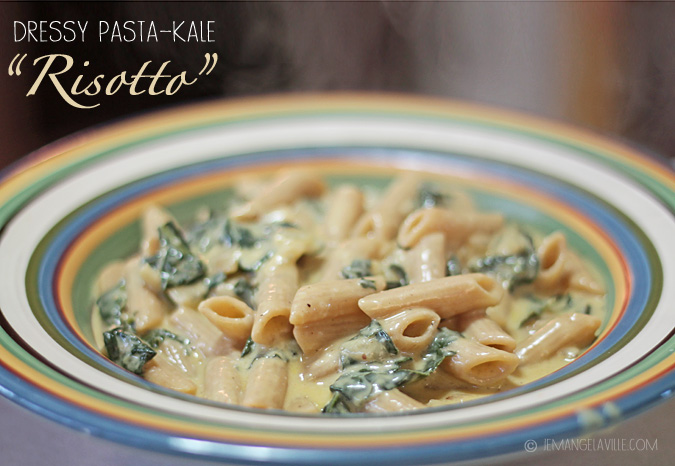 FFwD: Dressy Whole Wheat Pasta Kale Risotto