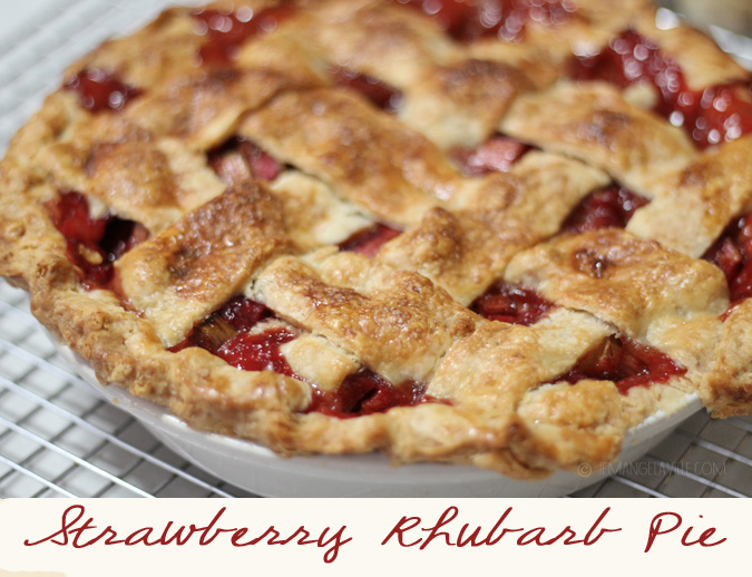 Late Spring Dessert: Strawberry Rhubarb Pie with a Lattice Crust « Je ...