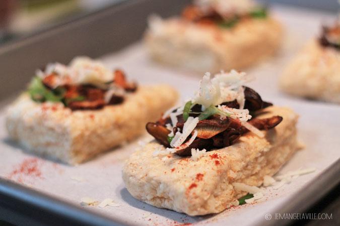 Smokey Manchego Mushroom Biscuits