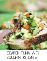 Albacore Tuna with Zucchini Relish