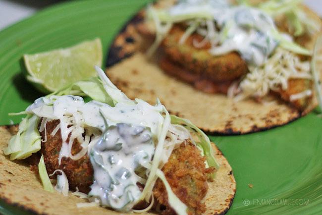 Avocado Tacos with Poblano-Buttermilk Dressing