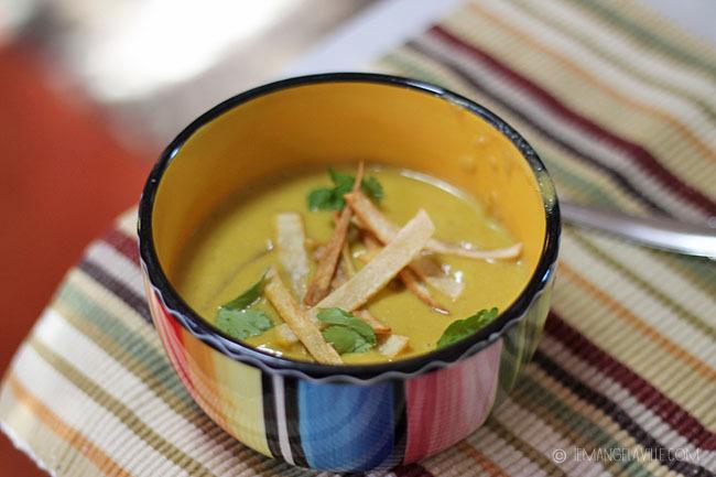 Pumpkin, Poblano, Manchego Soup