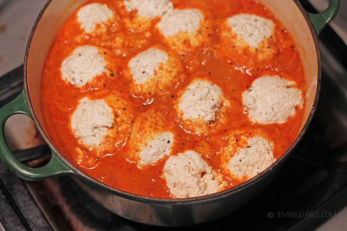 Chicken Goulash with Sour Cream Dumplings